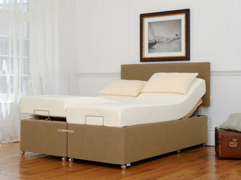 TEMPUR Ardennes Deep Adjustable & Massage Divan with Original Deluxe 22