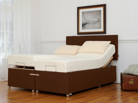 TEMPUR Ardennes Deep Adjustable & Massage Divan with Cloud 21 Mattress