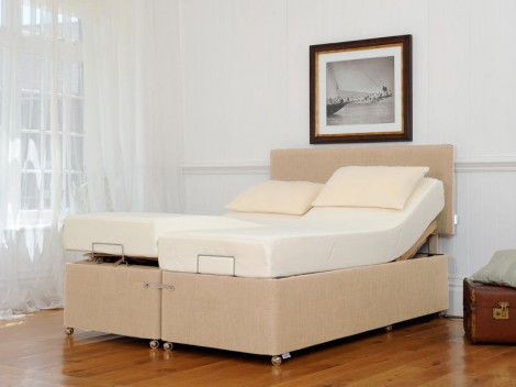TEMPUR Ardennes Deep Adjustable & Massage Divan with Sensation Deluxe 27 Mattress