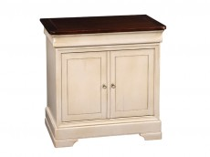 GRANGE Louis-philippe ORLEANS FE114  BEDSIDE CABINET WITH 2 DOORS & 1 DRAWER & SECRET COMPARTMENT