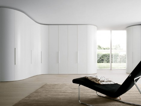 WELLS Modern curved Bedroom fitted or free-standing Range