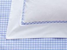 WELLS Luxury Gingham 220 Thread count Percale 100% cotton range