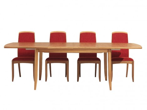 NATHAN Shades Teak or Oak range 2805 extending Boat shaped Dining Table