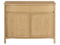 NATHAN Shades Teak or Oak range 1905 Shaped 2 Door Sideboard