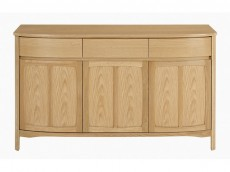 NATHAN Shades Teak or Oak range 1815 Shaped 3 Door Sideboard