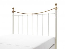 WELLS Ivory & Brass Headboard no. 7