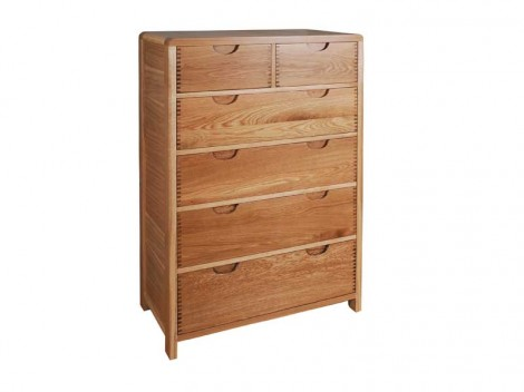 ERCOL Bosco Bedroom Range 6 drawer tall chest