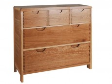 ERCOL Bosco Bedroom Range 5 drawer wide chest