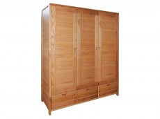 ERCOL Bosco Bedroom Range 3 door wardrobe