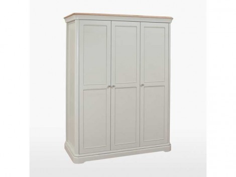WELLS Huntingdon Bedroom range TRIPLE WARDROBE