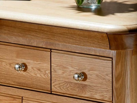 WELLS Bedford Bedroom range WIDE 7 DRAWER CHEST