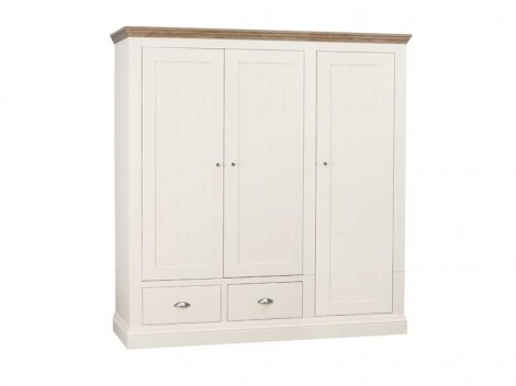 WELLS ELY Bedroom range triple ladies wardrobe