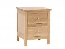 Oak Bedroom range 2 drawer bedside