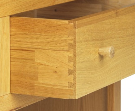 Oak Bedroom range 3 drawer bedside