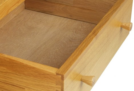 Oak Bedroom range 2 drawer wide  bedside