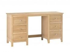 Oak Bedroom range twin pedestal dressing table