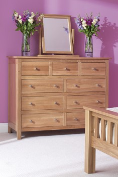 Oak Bedroom range single wardrobe